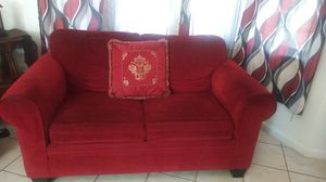 Red couch and loveseat almost new no tears perfect condition for Sale in Sacramento, CA