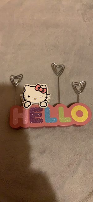 Hello Kitty wooden note holder for Sale in Jersey Shore, PA