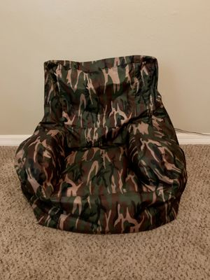 Camo bean bag chair for kids for Sale in Plant City, FL