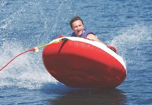 ⭐TOWABLE TUBE FOR BOATING,RED ⭐ for Sale in San Bernardino, CA