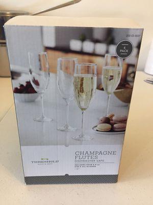 Threshold champagne flutes for Sale in Ashburn, VA