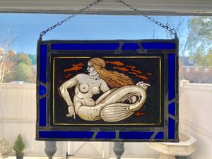 Matching Mermaid and Mermen leaded stained glass for Sale in Alexandria, VA