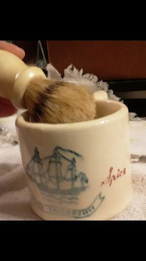 Super good deal!!!! Ceramic OLD SPICE shave brush for Sale in Colmesneil, TX