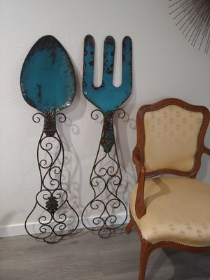 Large decorative Fork and Spoon wall decor for Sale in Tacoma, WA
