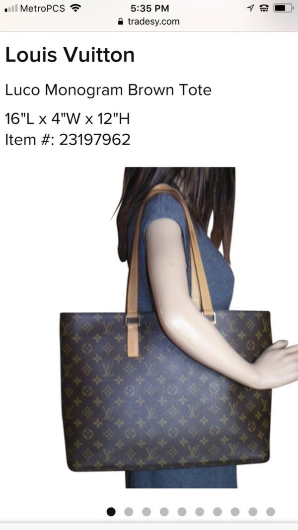 76cacbf53b06 Authentic Louis Vuitton Luco tote for Sale in Grand Prairie