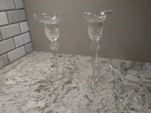 A pair of Wedgwood Crystal Candleholders / Candle Holders / Candlesticks / Candle Sticks for Sale in US