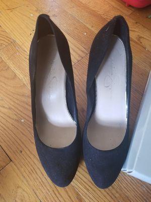 9.5 Jessica Simpson black suede heels for Sale in Washington, DC