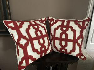 Z Gallerie red, white and gold pillows for Sale in Austell, GA
