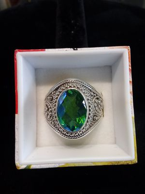 Silver blue/green stone ring for Sale in Milwaukie, OR