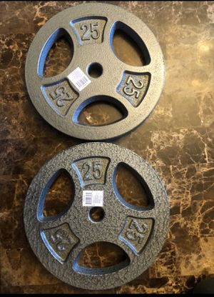 Total of 50 lbs - Two 25 lbs Weight Plates for Sale in Bethesda, MD