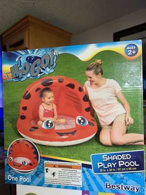 """*NEW H20 Go!! SOFT INFLATABLE FLOOR SHADED PLAY POOL 38"""" x 26"""" NEW NEVER USED for Sale in Buena Park, CA"""