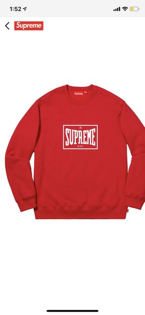 Supreme crewneck Large (SS19) for Sale in Woodbury, NJ