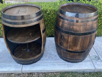 Oak Barrel Liquor Cabinet for Sale in Corona,  CA