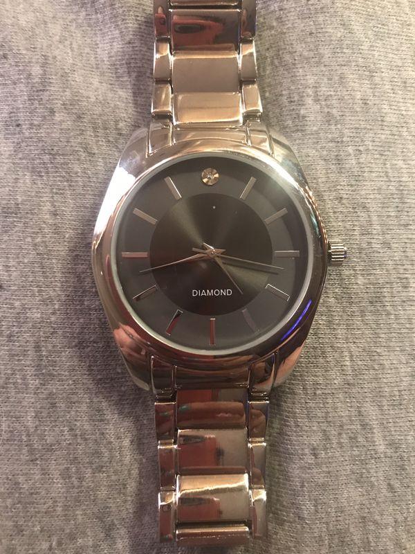 Diamond men's watch