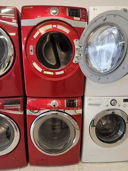 Samsung Front Load Washer And Gas Dryer Set Used In Good Condition With 90day's Warranty for Sale in Mount Rainier,  MD