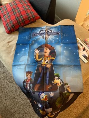 Kingdom Hearts 3 scroll poster for Sale in Houston, TX