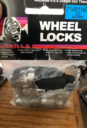 Jeep wheel locks with key and paperwork for Sale in Pico Rivera, CA