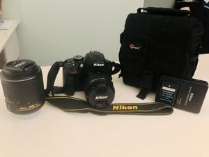 Nikon D3400 DSLR w/ 2 lenses for Sale in Harwinton, CT
