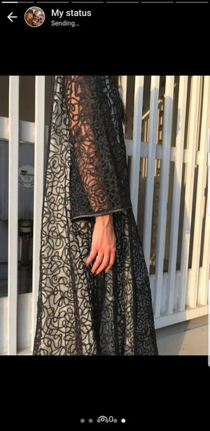 Black heavy lace abaya for Sale for sale  Dearborn, MI