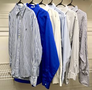 6 Striped and Solid Color Dress Shirts - Polo/Brooks Brothers/Izod/Van Heusen for Sale in Palm Beach Gardens, FL