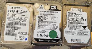 "4 Laptop 2.5"" 320GB hard drives HDDs Toshiba WD Hitachi Western Digital for Sale in Buffalo Grove, IL"