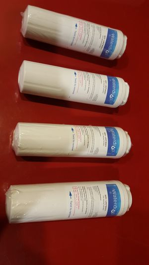 All 4 Refrigerator Water Filters Replacement Maytag, Waterdrop WD-UKF8001 sealed wrap Maytag Amana Whirlpool Kitchen Aid Kenmore for Sale in Long Beach, CA