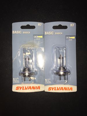 Two H7 55W halogen car light bulbs for Sale in East Peoria, IL