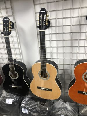 Brand new wooden guitar with box for Sale in Las Vegas, NV