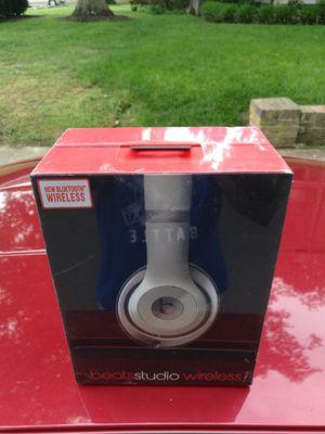Silver - Beats by Dre Studio 2.0 Wireless Bluetooth headset Headphone Earphones NEW sealed in box for Sale in Richmond, VA