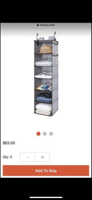 Hanging Closet 6-Shelf Closet Organizers and Storage for Sale in Portland, OR