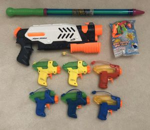 Water guns and balloons for Sale in Plano, TX