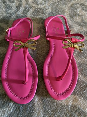 Like new hot pink Kate spade sandals size 8 for Sale in Philadelphia, PA