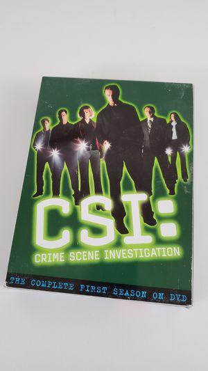 CSI Crime Scene Investigation First Season Dvd for Sale in Manteca, CA