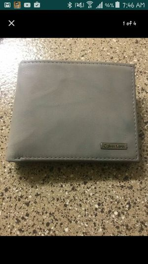 Brand new Calvin Klein leather wallet two tone for Sale in Las Vegas, NV