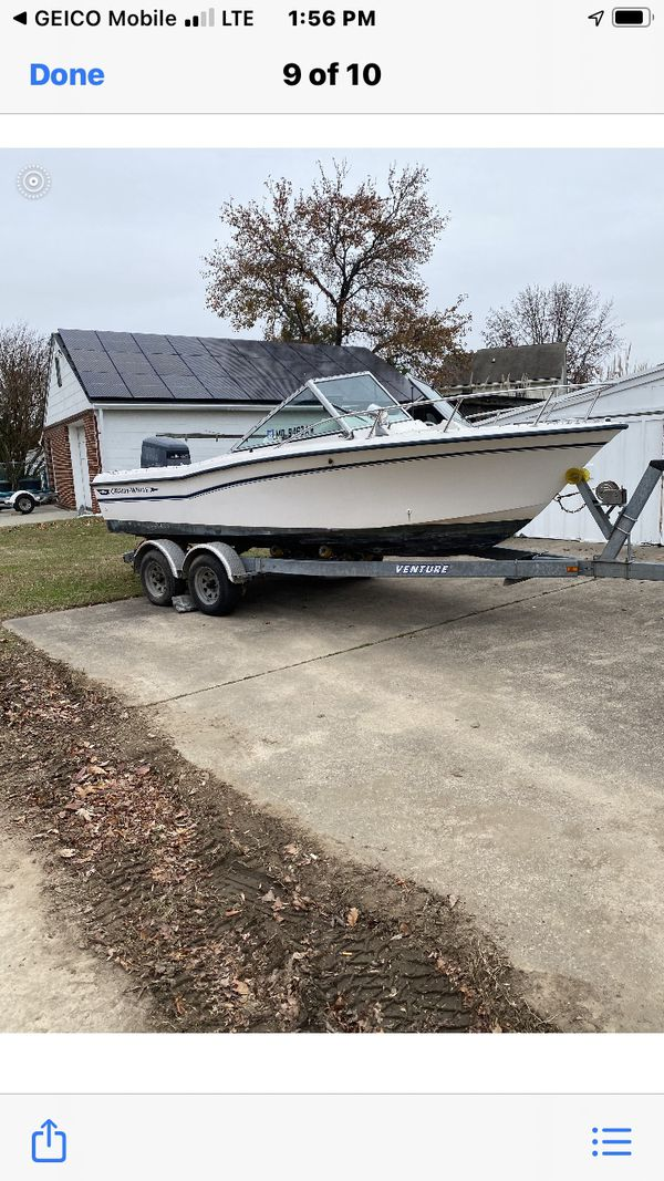 1990 Grady white boat With 225 Yamaha motor 25 foot wet trailer