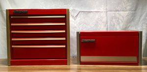 Snap-on Mini Micro Top Chest / Mini Bottom Tool Box Jewelry Box RED for Sale in Arcadia, CA