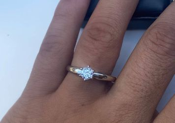 White Gold Solitaire Diamond Ring for Sale in South Gate,  CA