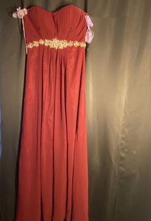 Burgundy prom dress, size 6, ball dress for Sale in San Diego, CA