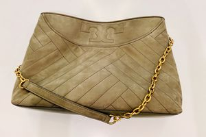 Tory Burch Suede Alexa Tote - Olive for Sale in Houston, TX