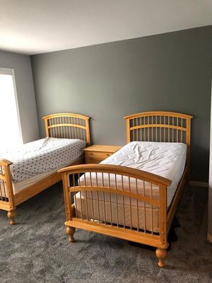 Twin beds (plus mattresses!) for Sale in Ashburn, VA