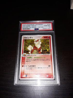 Pokemon Arcanine Japanese Magma Vs Aqua 1ED PSA10 GEM Mint 014/080 for Sale in Queens, NY