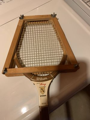 Wilson autograph billy Jean king Wooden tennis racket for Sale in CT, US