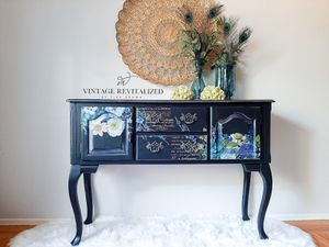 PENDING PICK UP 11/2: Refinished Entryway Table Buffet Sideboard Dresser Chest TV Console Stand for Sale in Sacramento, CA