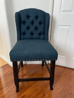 Furniture of America Tays Counter Height Stool - Dark Blue for Sale in Corona,  CA