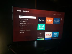 TCL SMART TV 49 INCH ROKU WITH BOX for Sale in Sudley Springs, VA