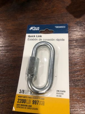 NEW 3/8 inch Blue Hawk Zinc Plated Heavy Duty Quick Link 2200 Lbs for Sale in West Covina, CA