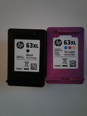 Hewlett Packard L0R44BN HP 63XL High yield Orginial Ink Cartridge, Black/Tri-Color - 2 pack, 480 pages yield for Sale in Baltimore, MD