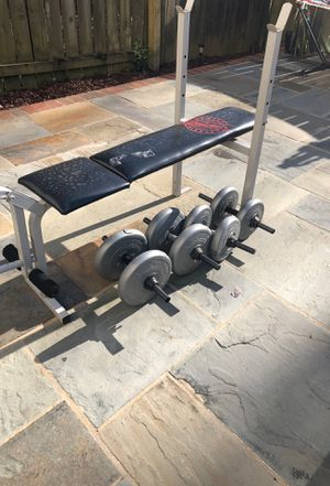 Bench and 2 sets of weight for Sale in Burke, VA