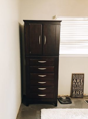 ESPRESSO WOOD ARMOIRE for Sale in Amarillo, TX