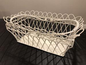 Decorative metal wire basket for Sale in Phoenix, AZ